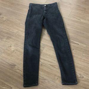 Topshop Black Joni Jeans